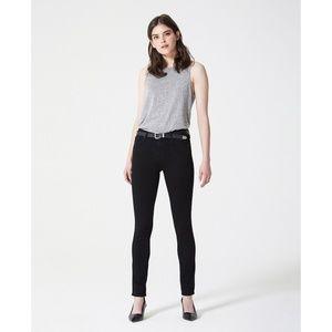 AG the Prima Mid-Rise Cigarette Black Jean